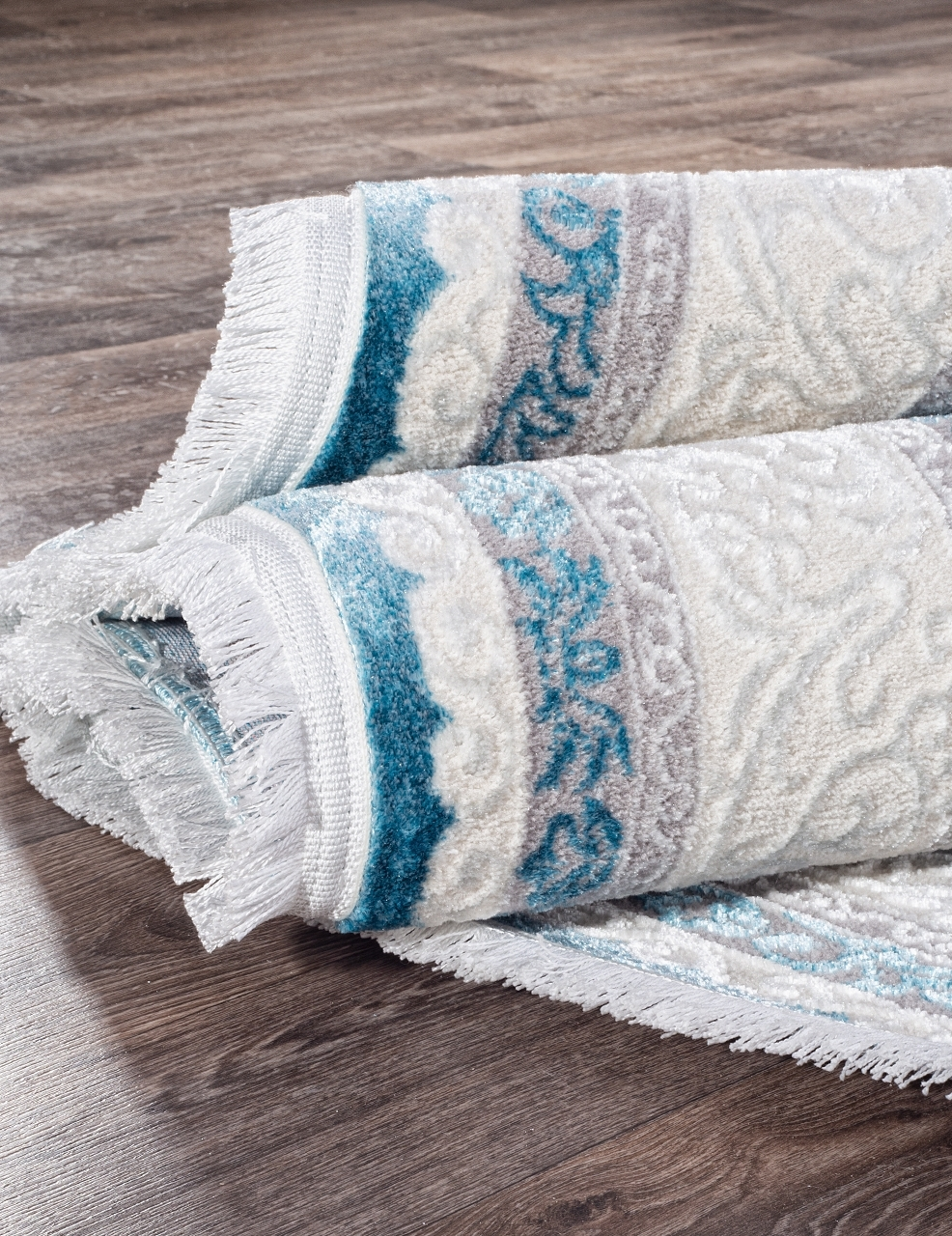 Ковер 0T249RG - BLUE / BLUE - Овал - коллекция ALFANI - фото 3