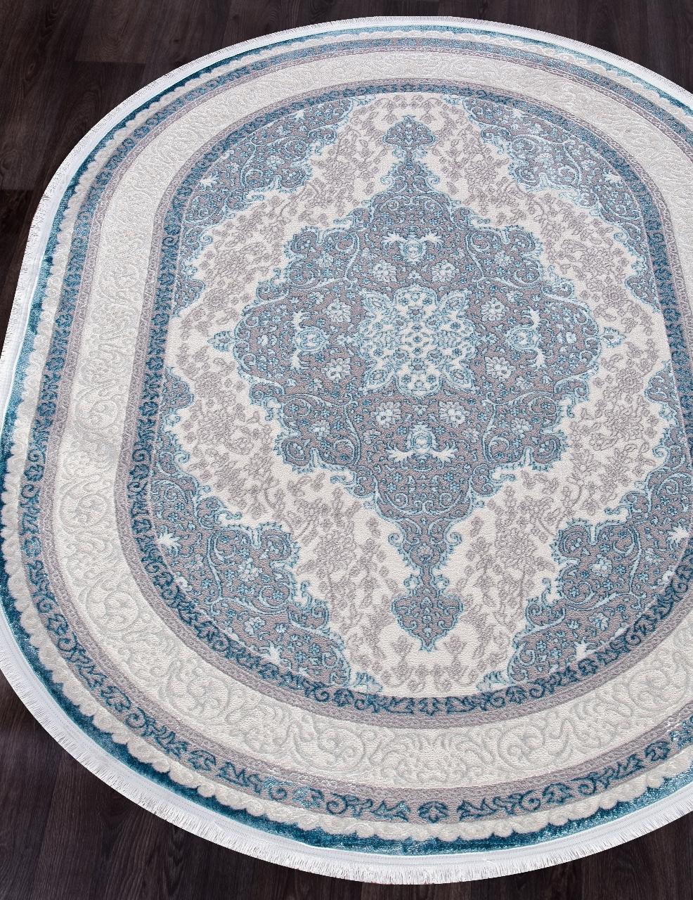 Ковер 0T249RG - BLUE / BLUE - Овал - коллекция ALFANI
