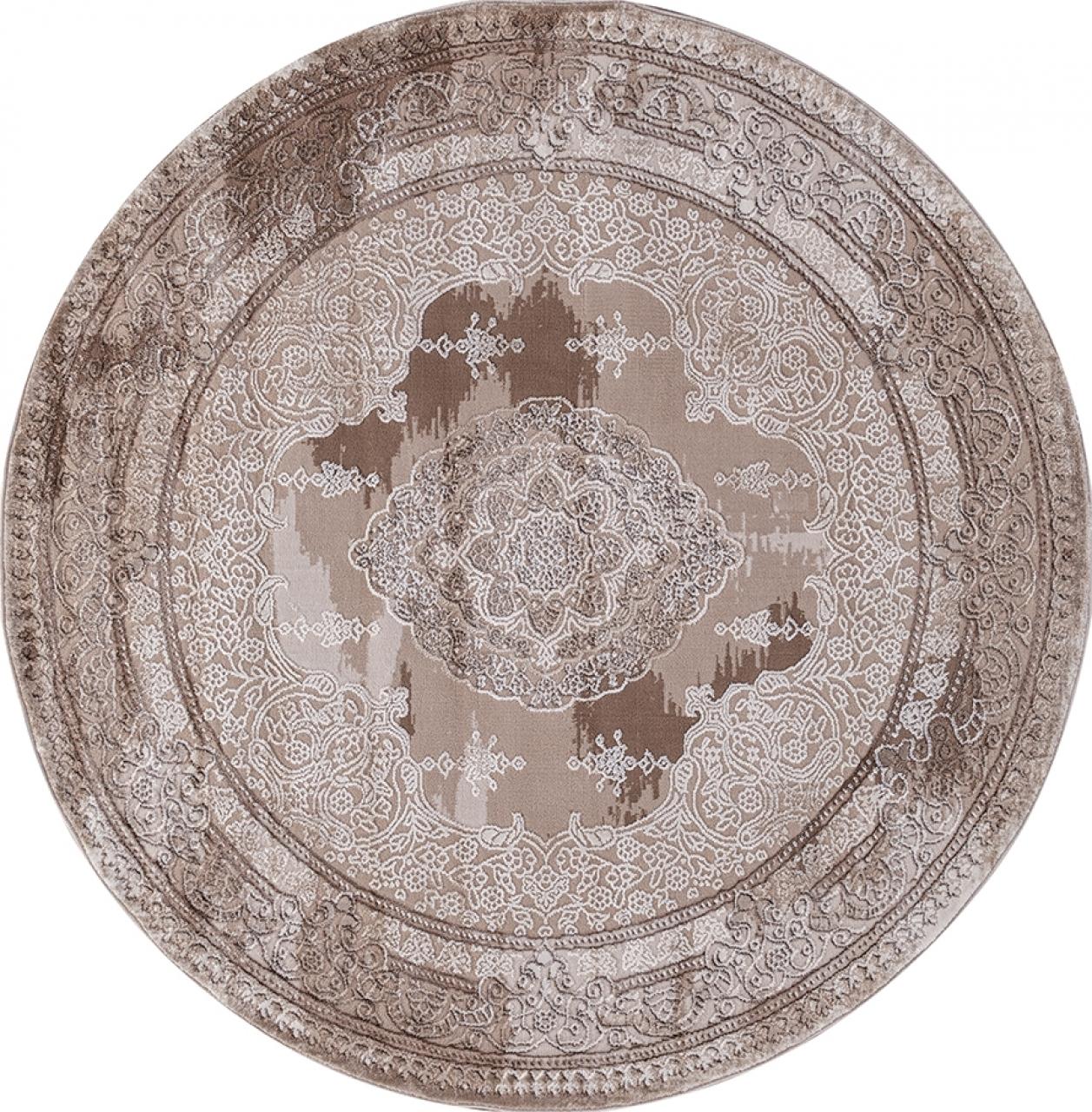 Ковер 03704A - BROWN / BROWN - Круг - коллекция ARMINA - фото 2