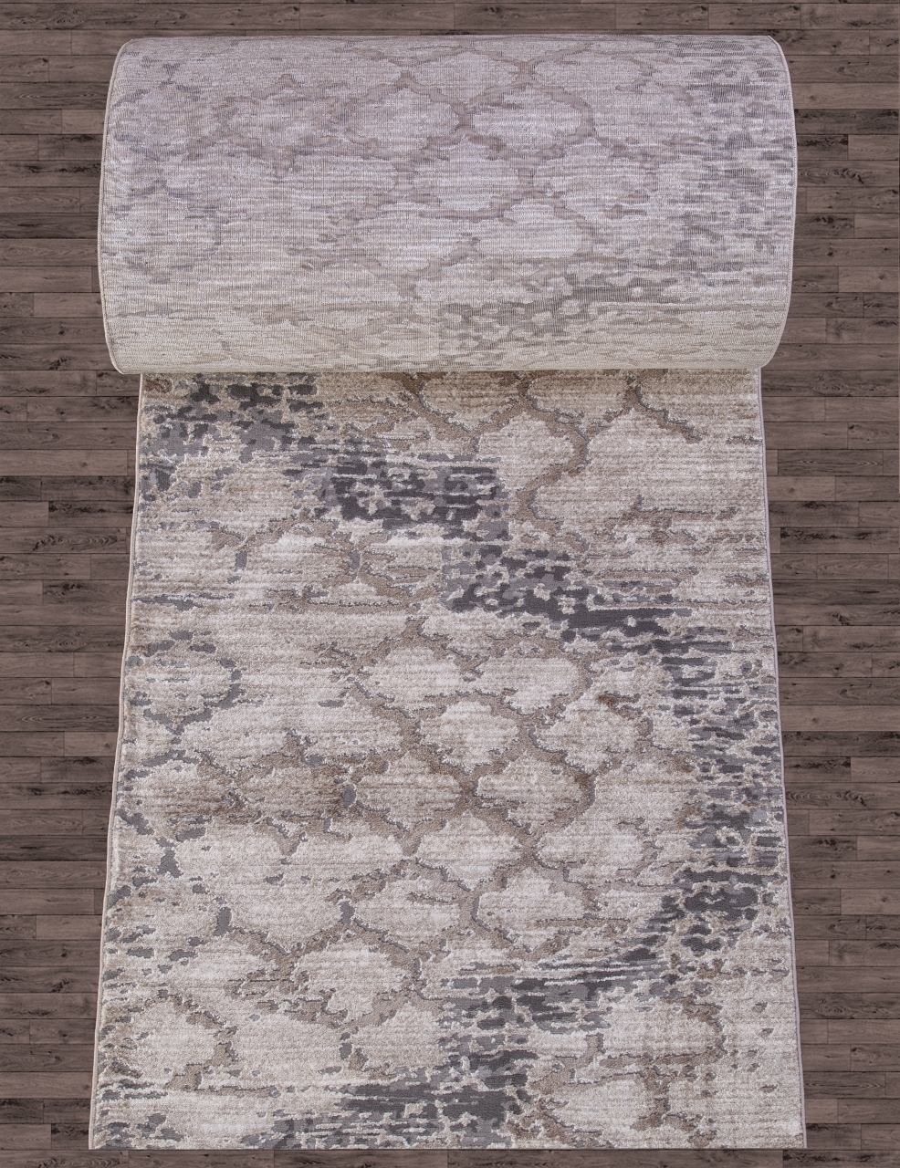 Ковровая дорожка 03806A - GREY / BROWN - коллекция ARMINA