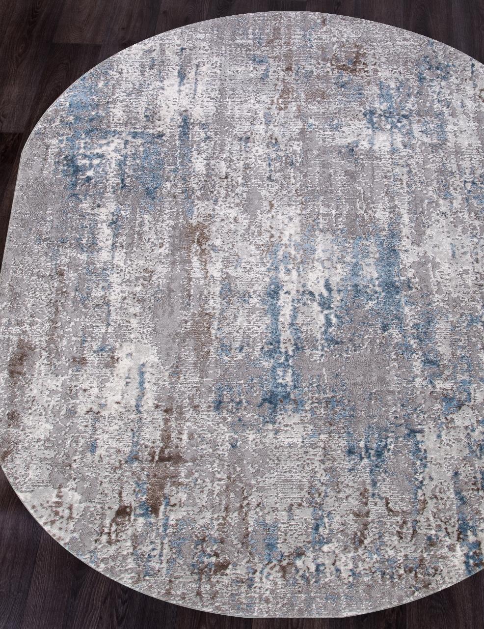Ковер 03856A - BLUE / BLUE - Овал - коллекция ARMINA