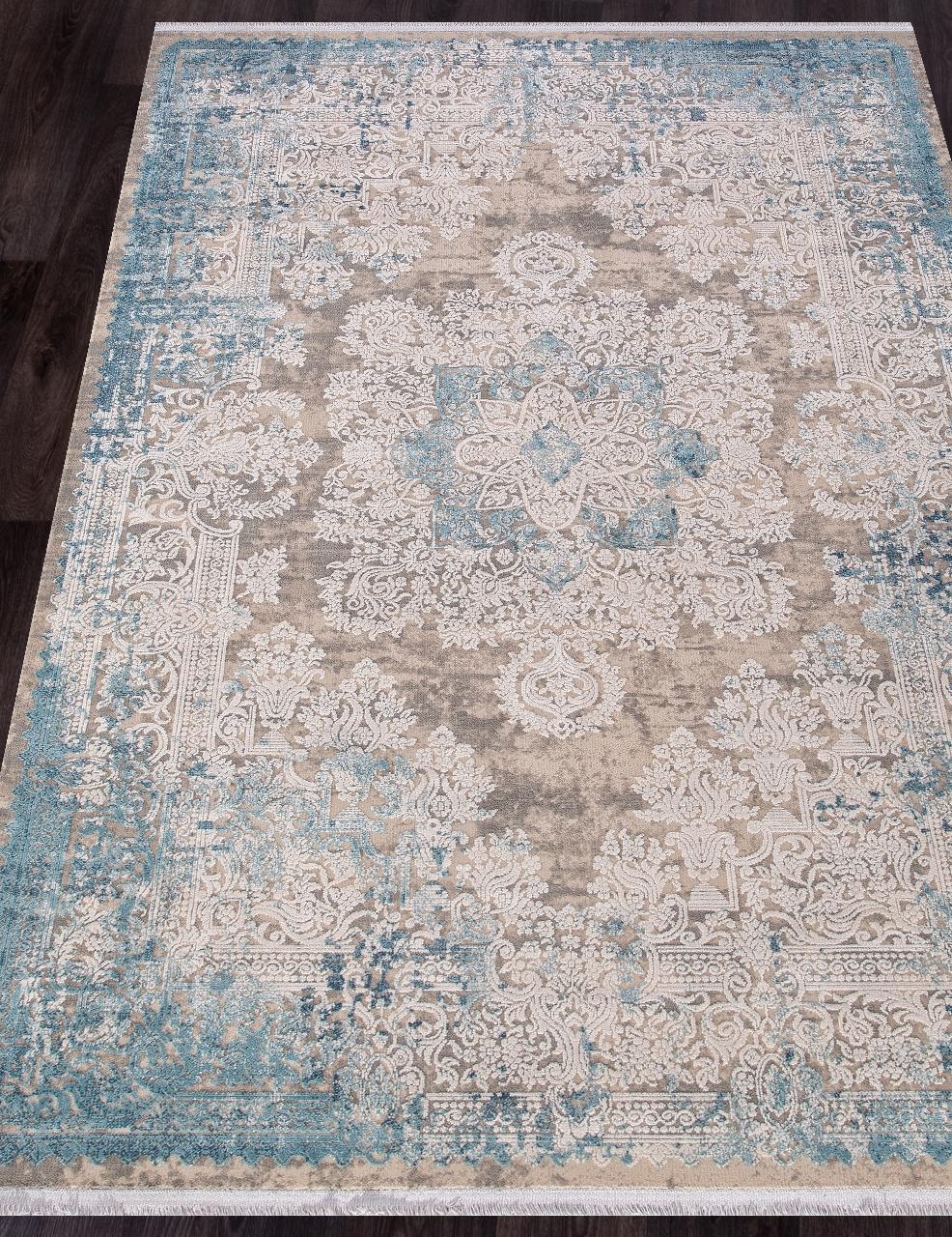 Ковер 9304 - BEIGE / BLUE - Прямоугольник - коллекция BIBLOS - фото 1