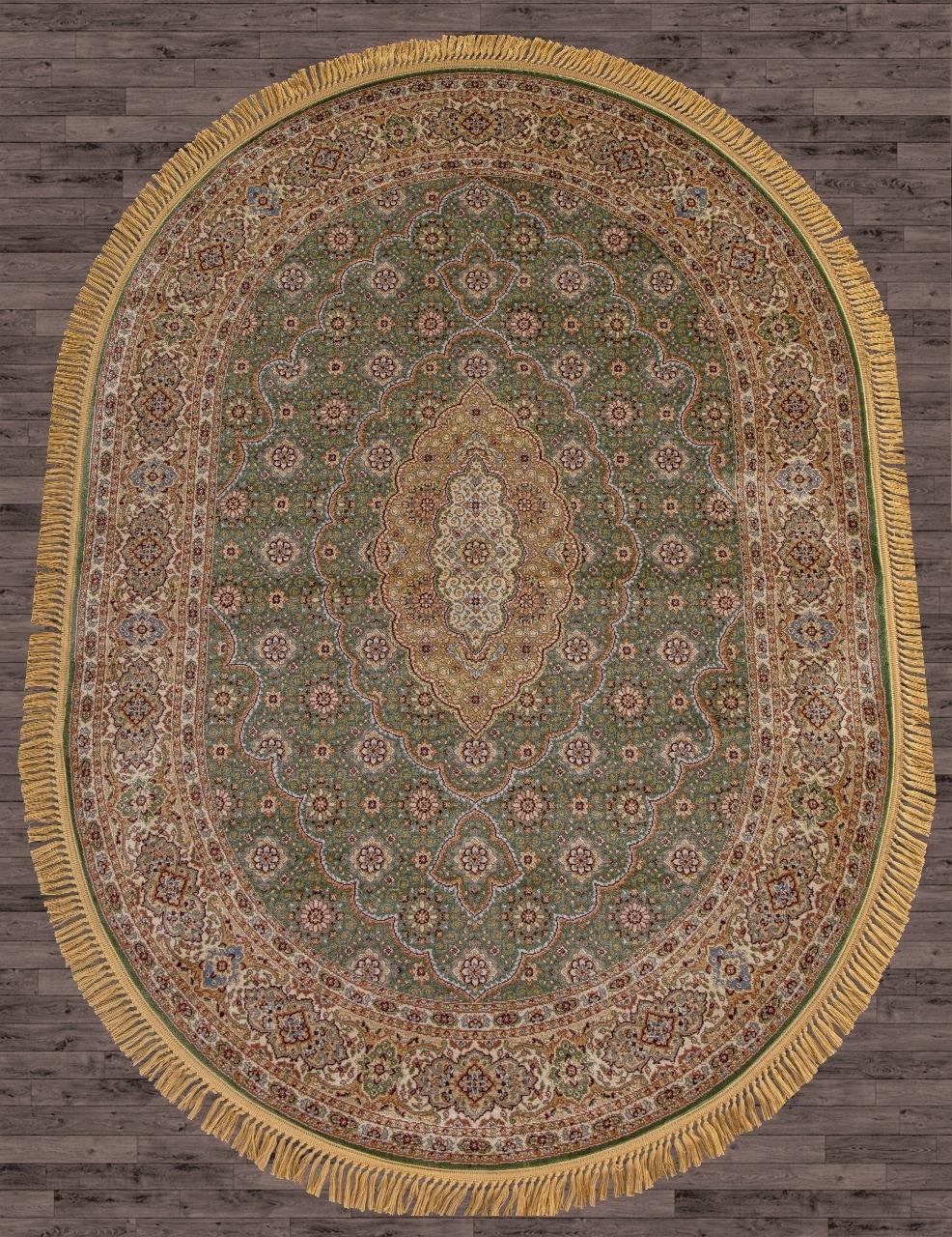 Ковер D159 - GREEN - Овал - коллекция BUHARA - фото 1