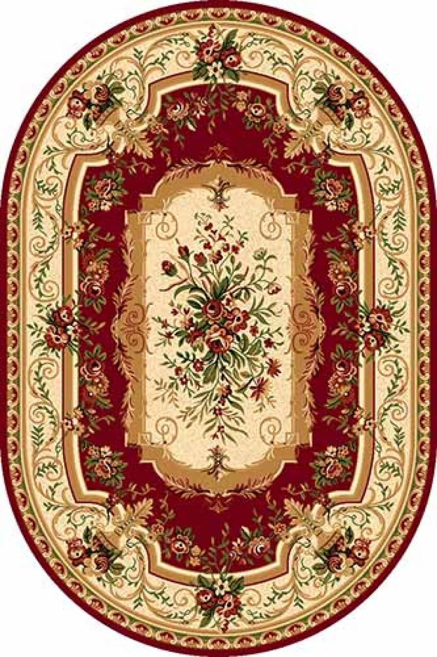 Ковер 5245 - RED - Овал - коллекция DA VINCI - фото 1