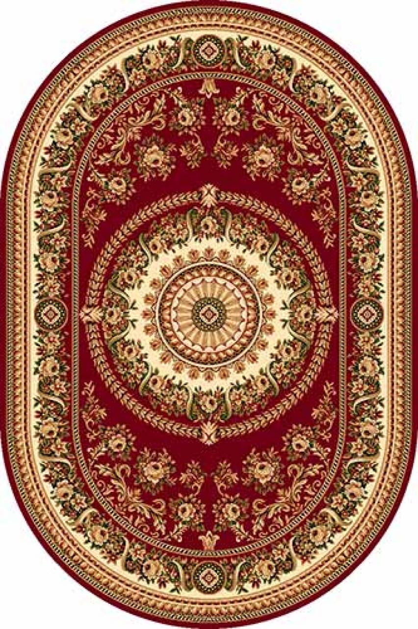Ковер 5246 - RED - Овал - коллекция DA VINCI - фото 1