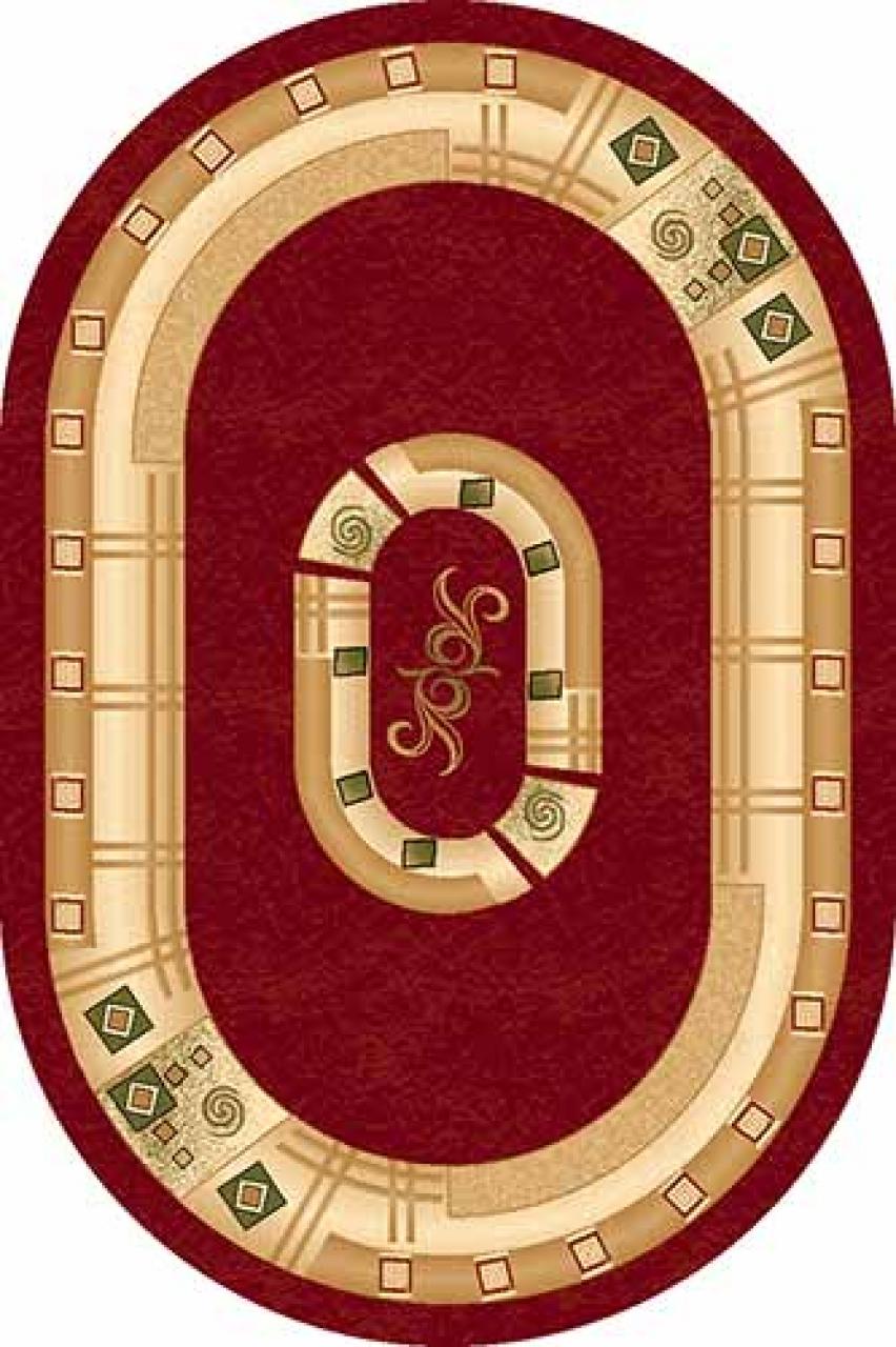 Ковер 5263 - RED - Овал - коллекция DA VINCI - фото 1