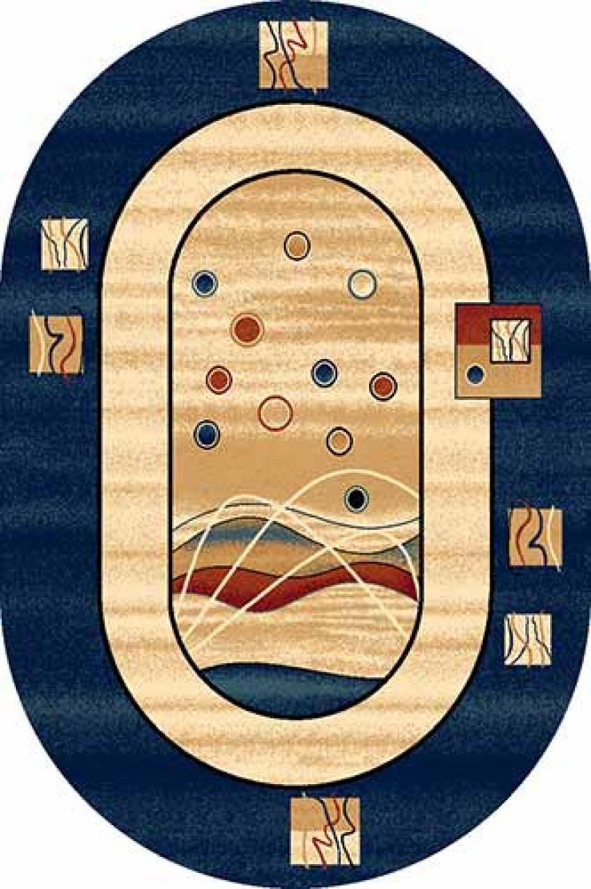 Ковер 5409 - NAVY - Овал - коллекция DA VINCI
