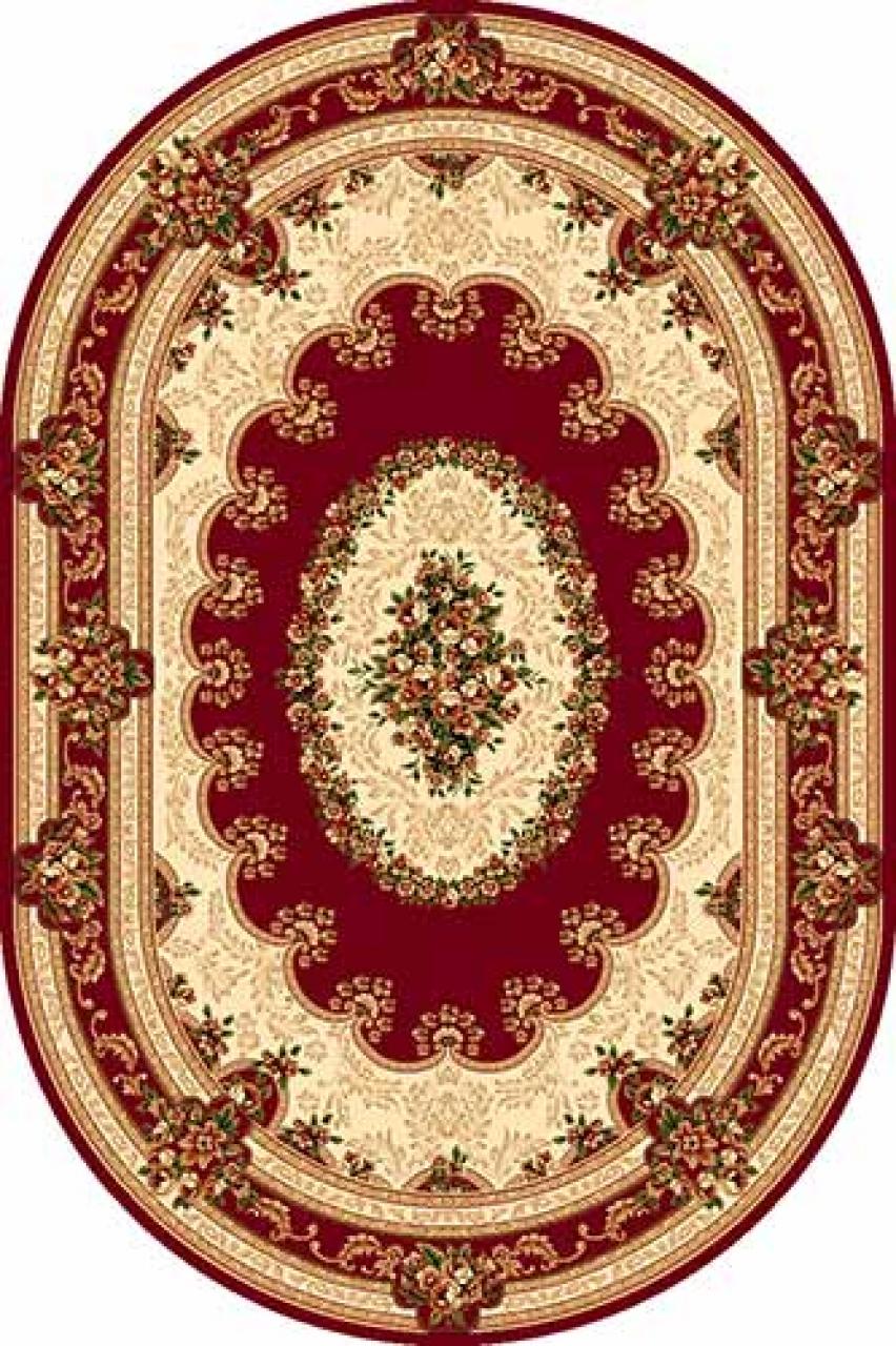 Ковер 5440 - RED - Овал - коллекция DA VINCI - фото 1