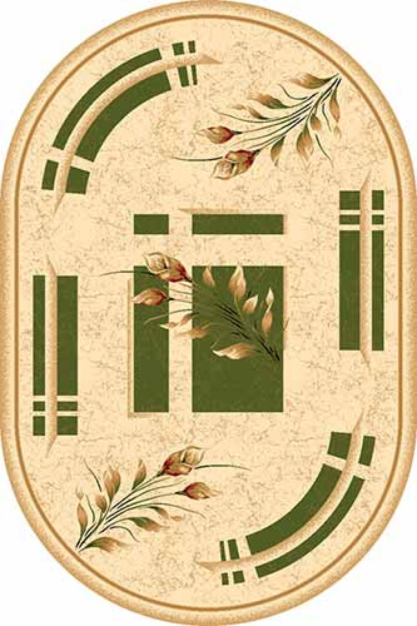 Ковер 5442 - GREEN - Овал - коллекция DA VINCI - фото 1