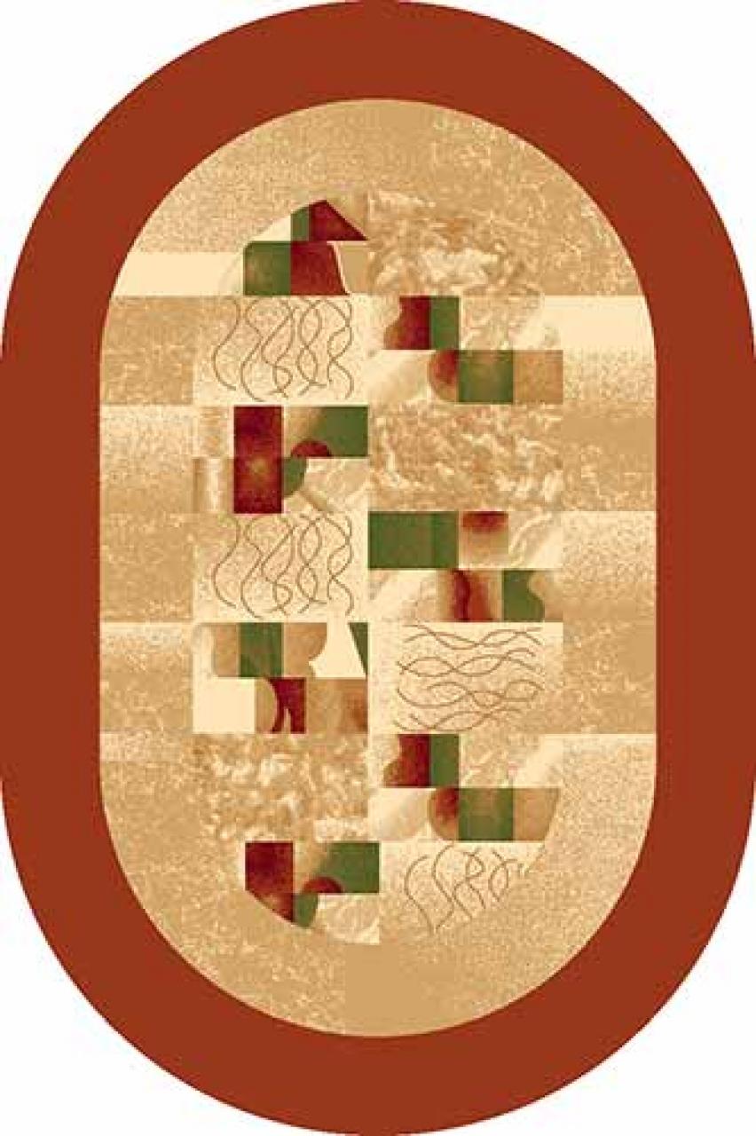 Ковер d143 - PINK - Овал - коллекция DA VINCI