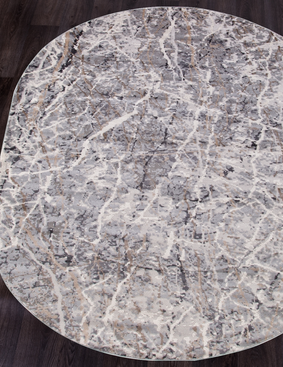 Ковер G507A - WHITE / D.VIZON - Овал - коллекция EFES - фото 1