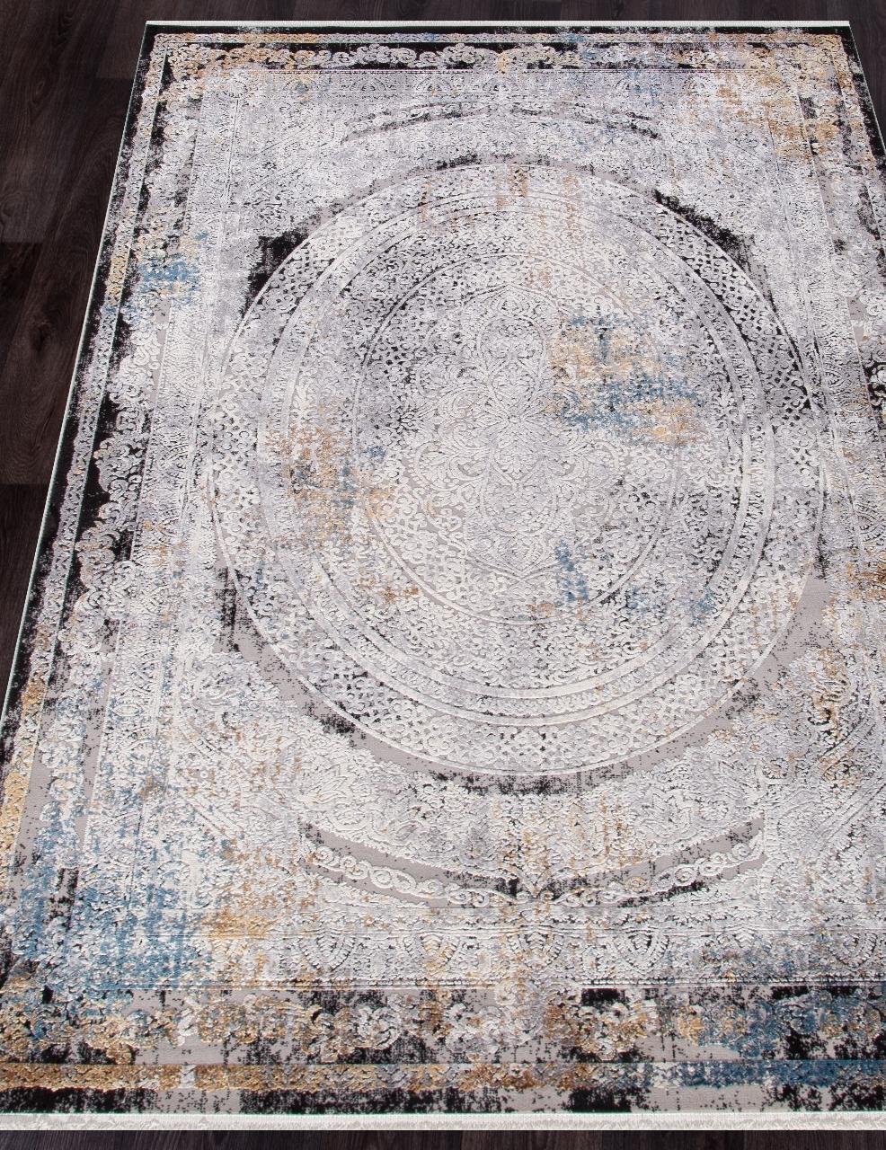 Ковер 18112 - GRAY / BLACK - Прямоугольник - коллекция ERVA