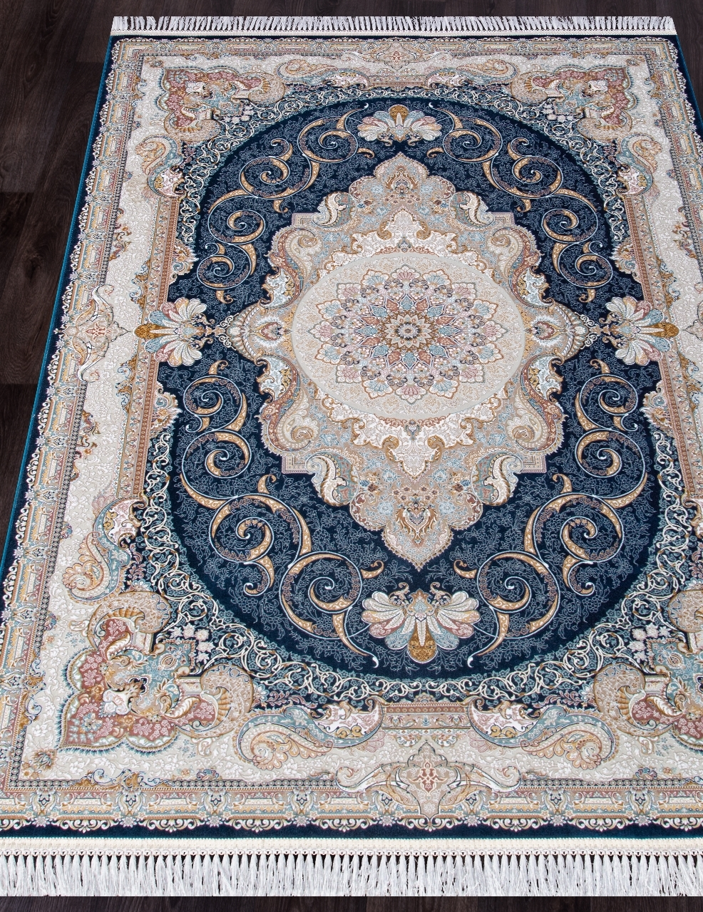 Ковер 144 - DARK BLUE - Прямоугольник - коллекция FARSI 1500