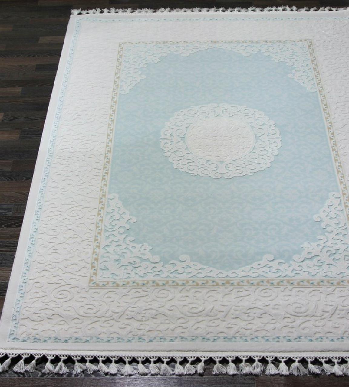 Ковер 7908 - BLUE / BLUE - Прямоугольник - коллекция HUNKAR - фото 1