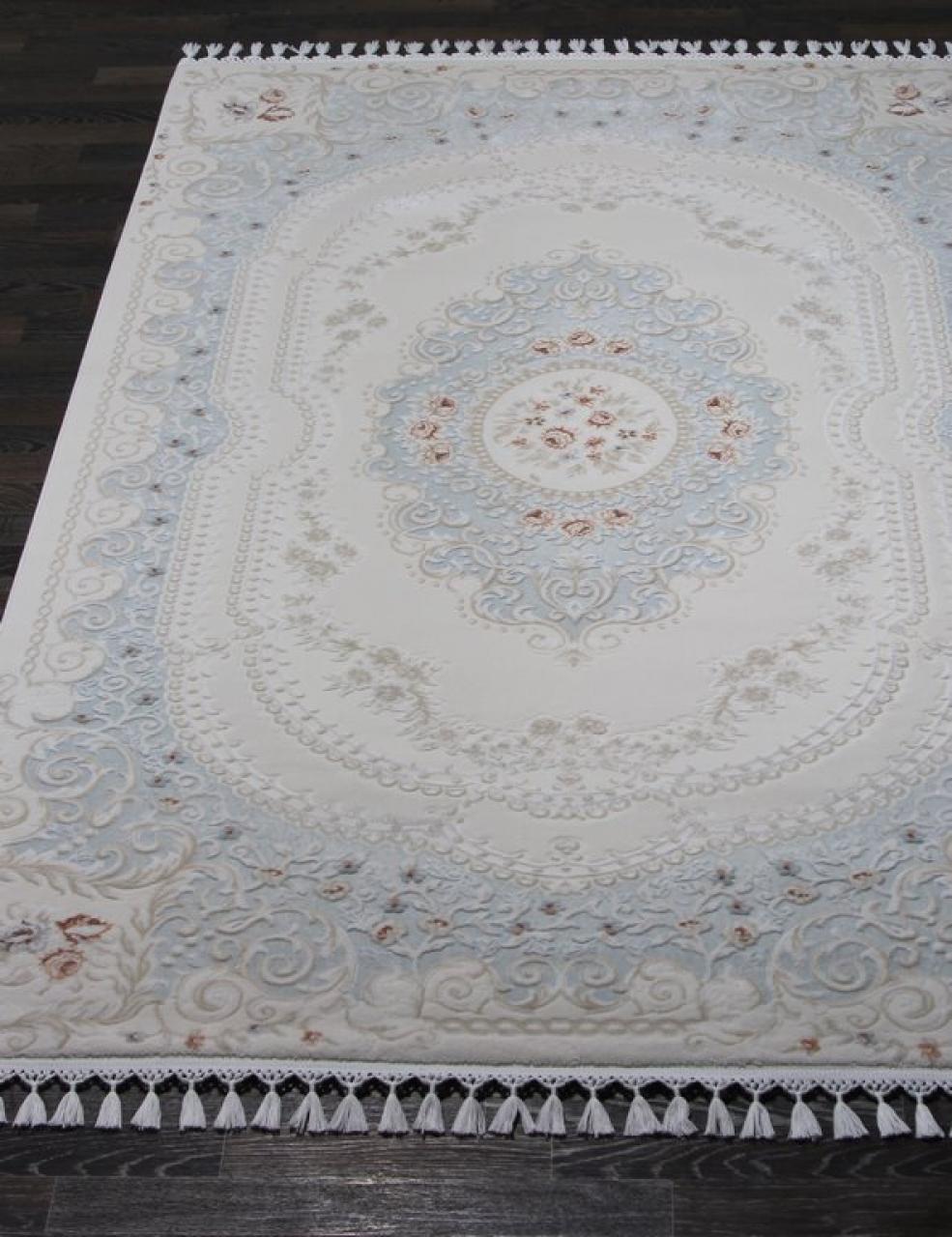 Ковер 07926T - BLUE / BLUE - Прямоугольник - коллекция HUNKAR