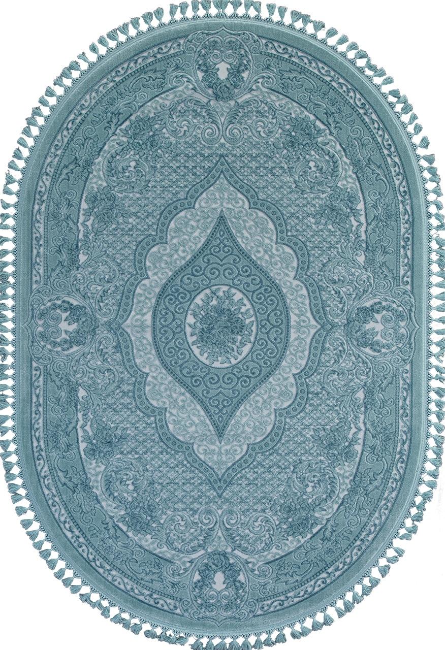 Ковер 07931 - BLUE / BLUE - Овал - коллекция HUNKAR - фото 2