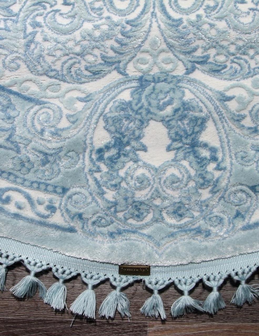 Ковер 07931 - BLUE / BLUE - Овал - коллекция HUNKAR - фото 5