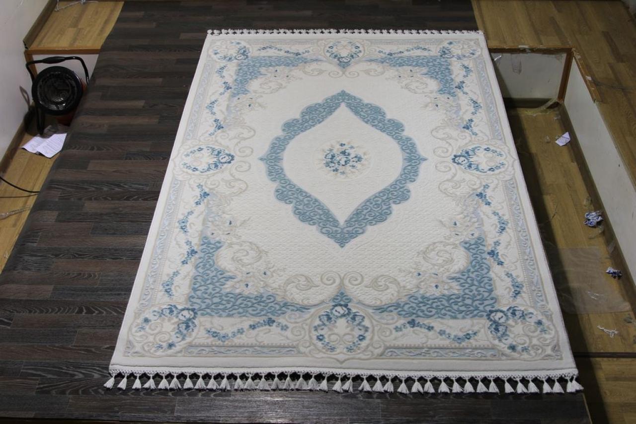 Ковер 7921 - BLUE / BLUE - Прямоугольник - коллекция HUNKAR