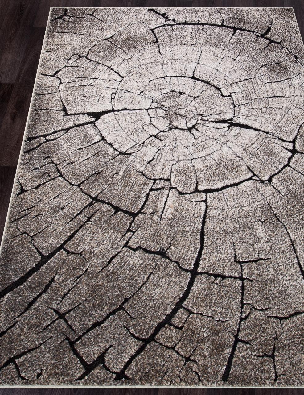 Ковер 2864 - BEIGE-BLACK - Прямоугольник - коллекция IBIZA