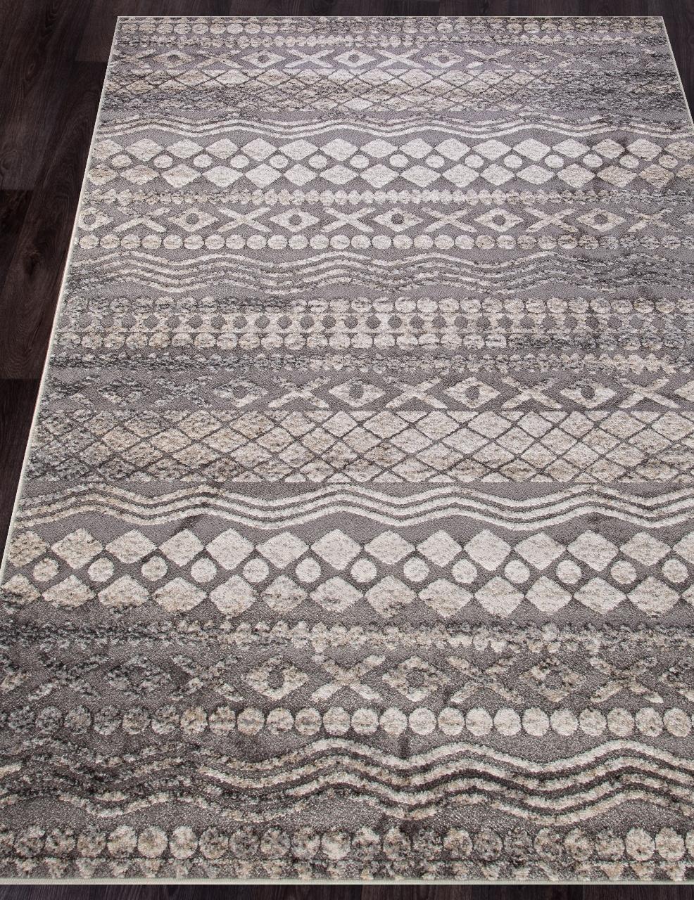 Ковер 4942 - BEIGE-GRAY - Прямоугольник - коллекция IBIZA