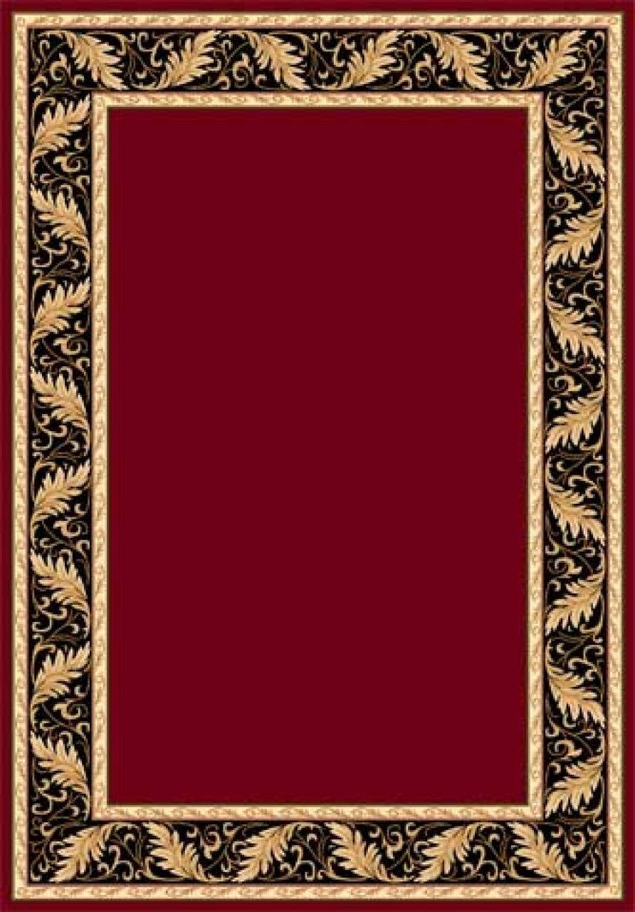 Ковер d040 - RED - Прямоугольник - коллекция IZMIR