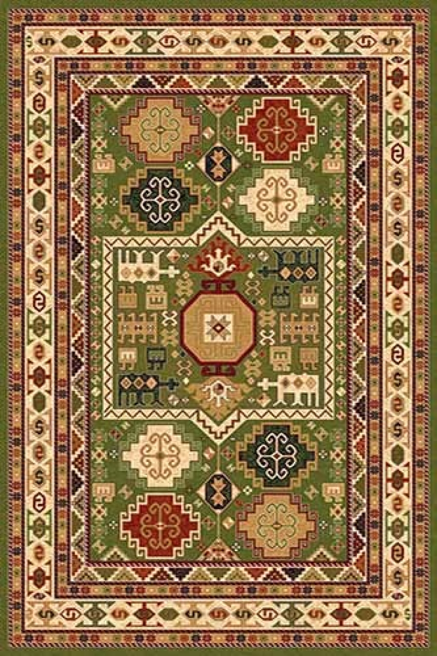 Ковер d294 - GREEN - Прямоугольник - коллекция IZMIR - фото 1