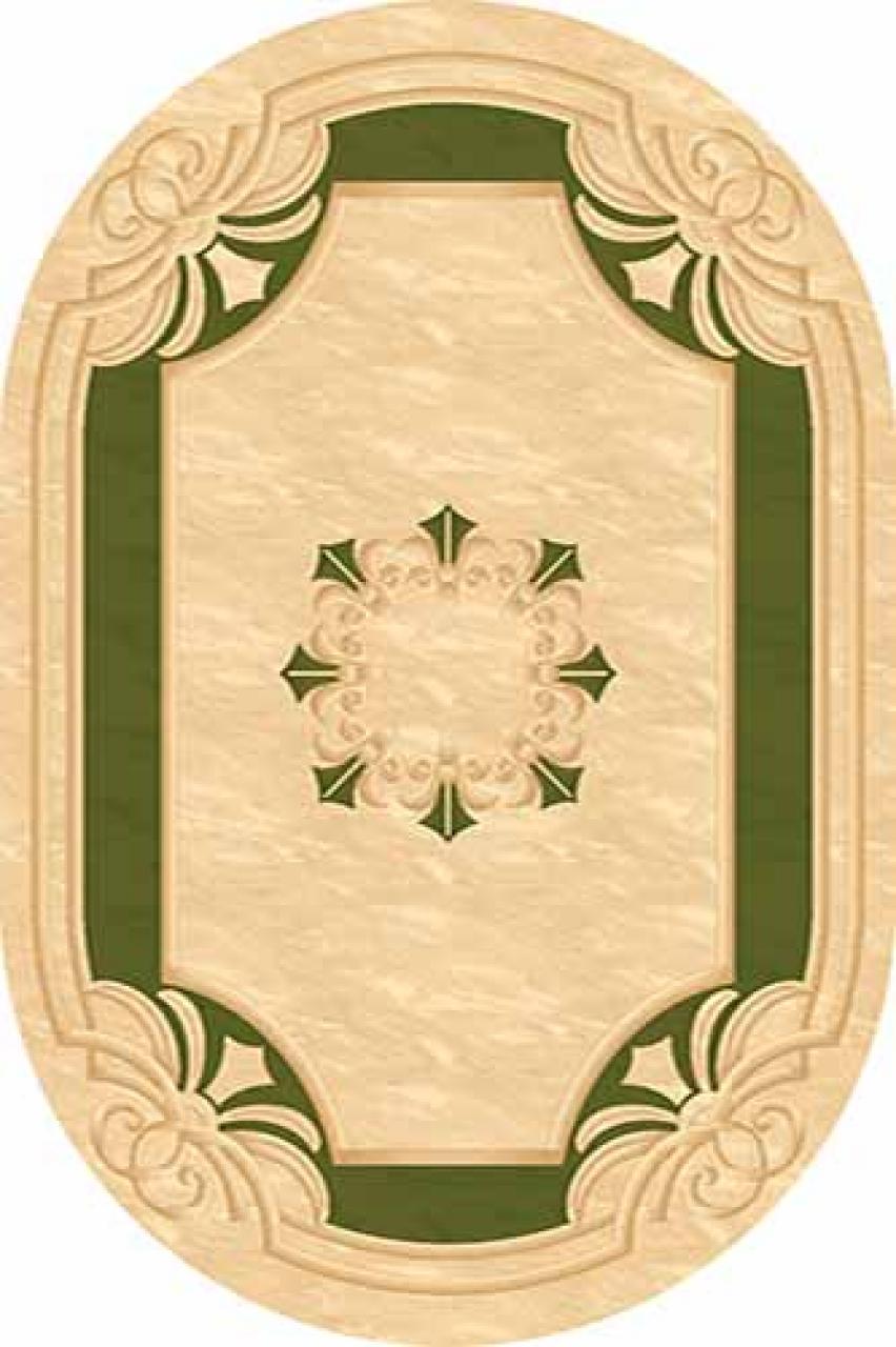 Ковер 5333 - CREAM-GREEN - Овал - коллекция KAMEA - фото 1
