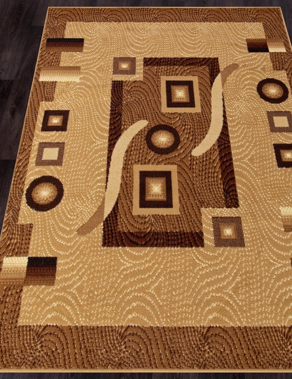 Ковер d043 - BEIGE - Прямоугольник - коллекция LAGUNA