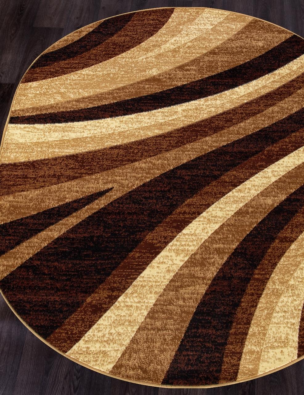 Ковер d234 - BEIGE - Овал - коллекция LAGUNA