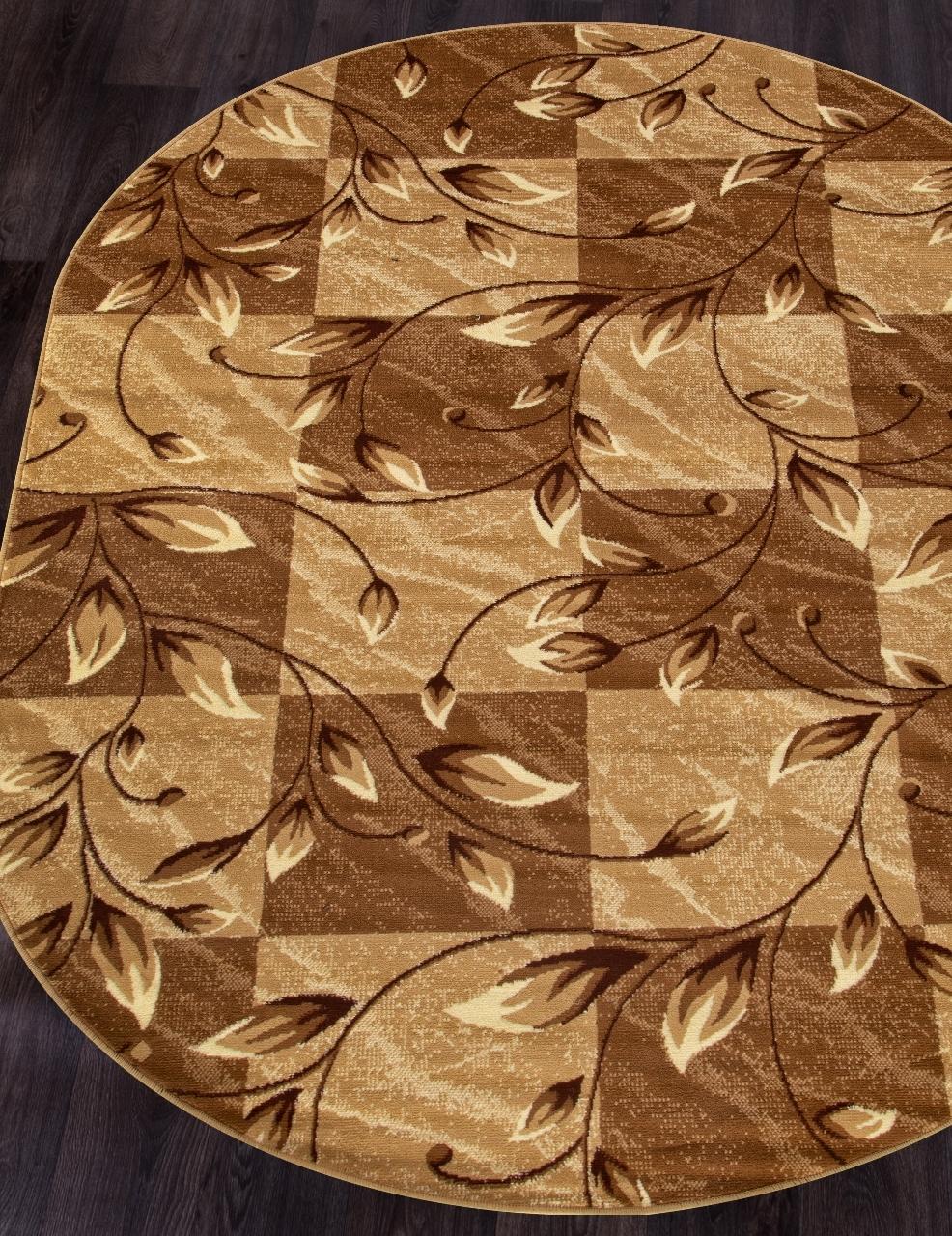 Ковер D480 - BEIGE - Овал - коллекция LAGUNA - фото 1