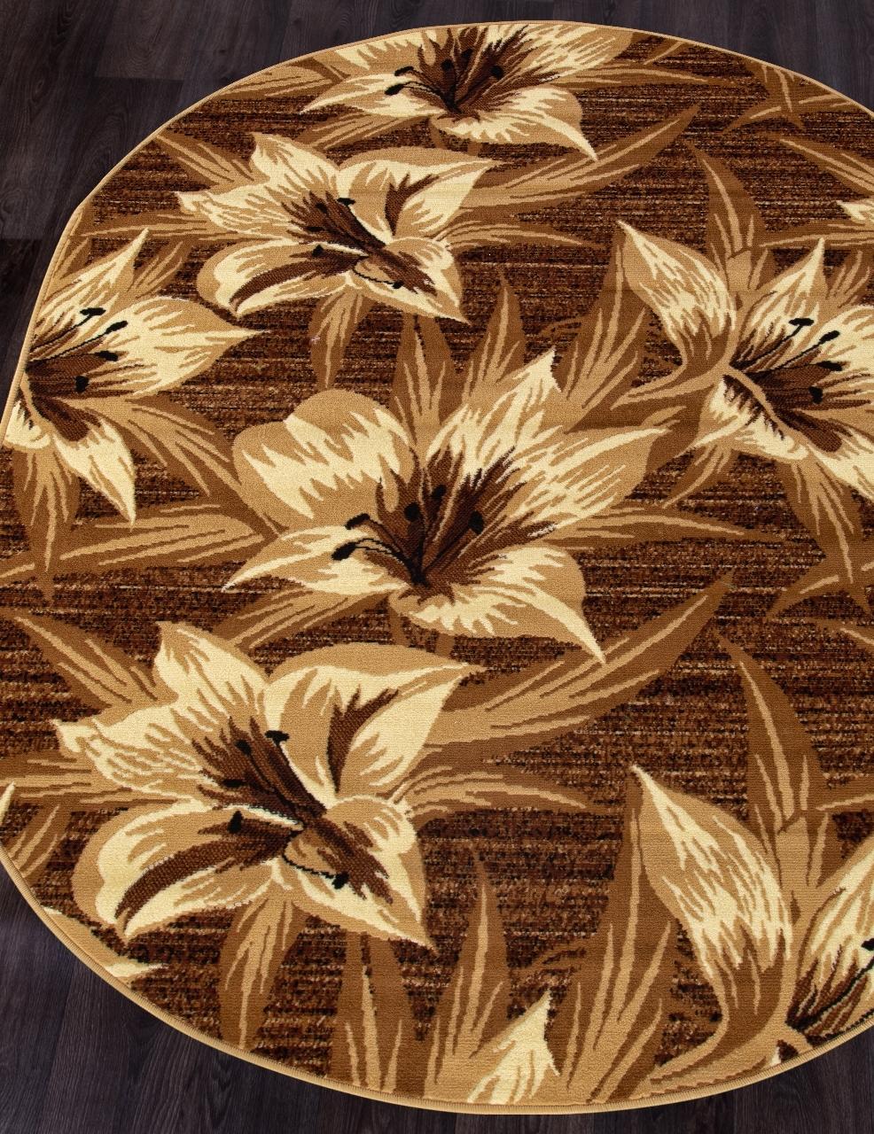 Ковер D490 - BROWN - Овал - коллекция LAGUNA - фото 1