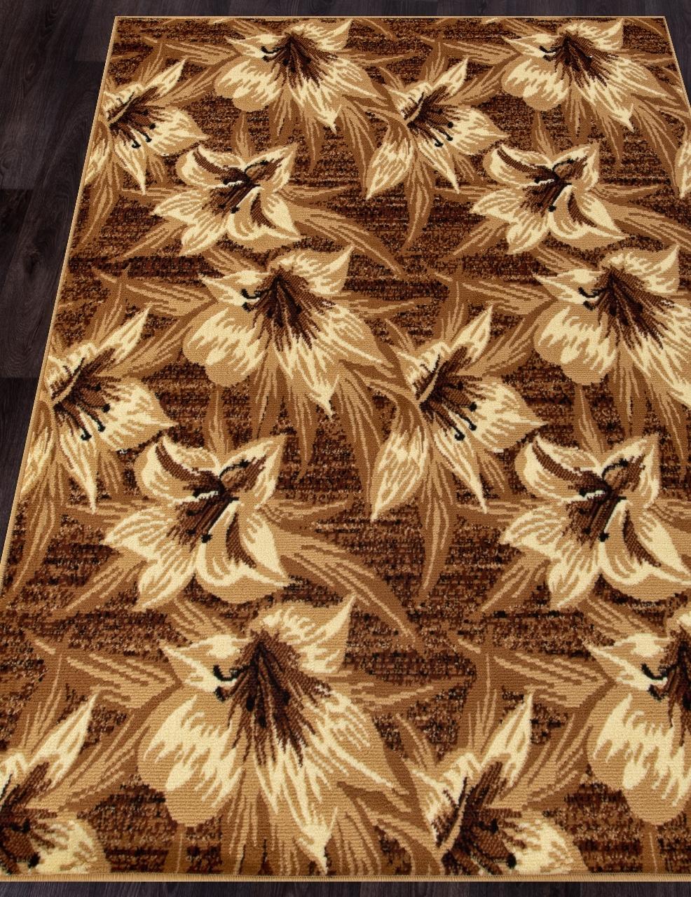 Ковер D490 - BROWN - Прямоугольник - коллекция LAGUNA - фото 1