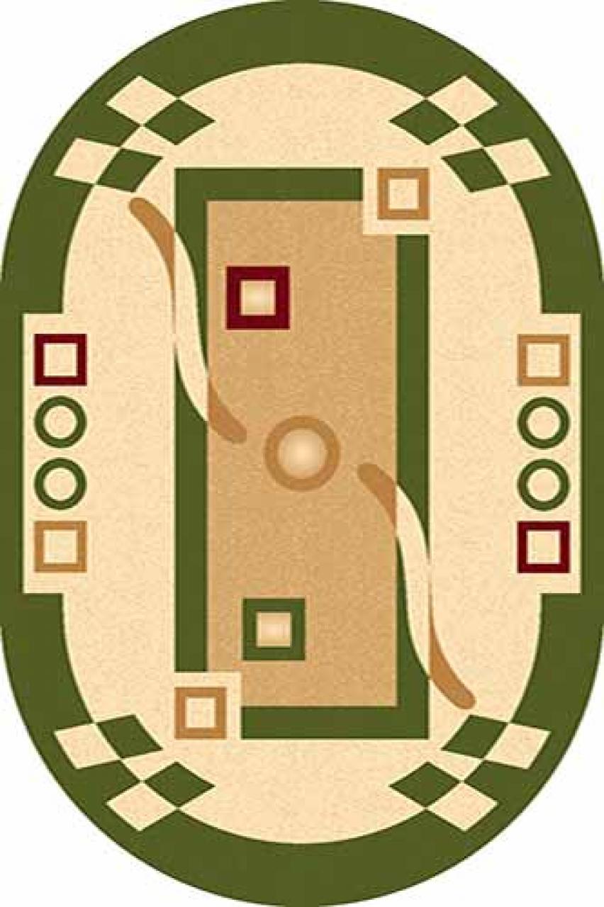Ковер 5462 - GREEN - Овал - коллекция LEONARDO