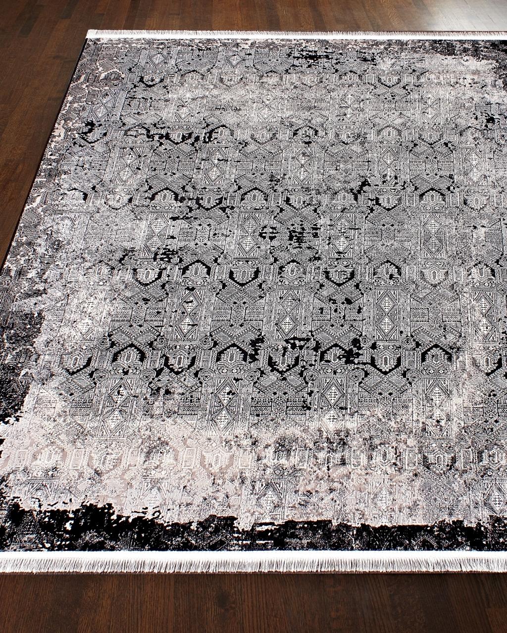 Ковер V02 - BLACK - Прямоугольник - коллекция LOUVRE