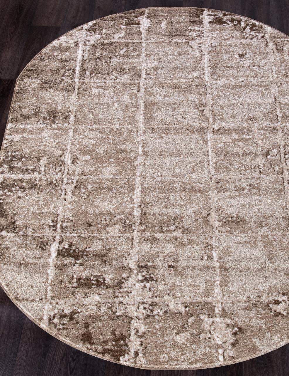 Ковер 1301A - VIZON COKEN / BROWN - Овал - коллекция MARDAN