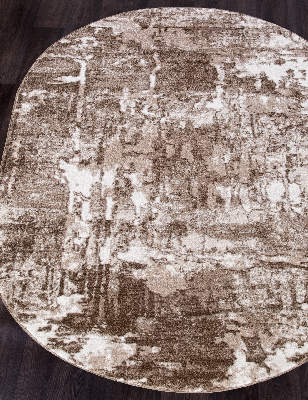 Ковер 5022A - VIZON COKEN / BROWN - Овал - коллекция MARDAN