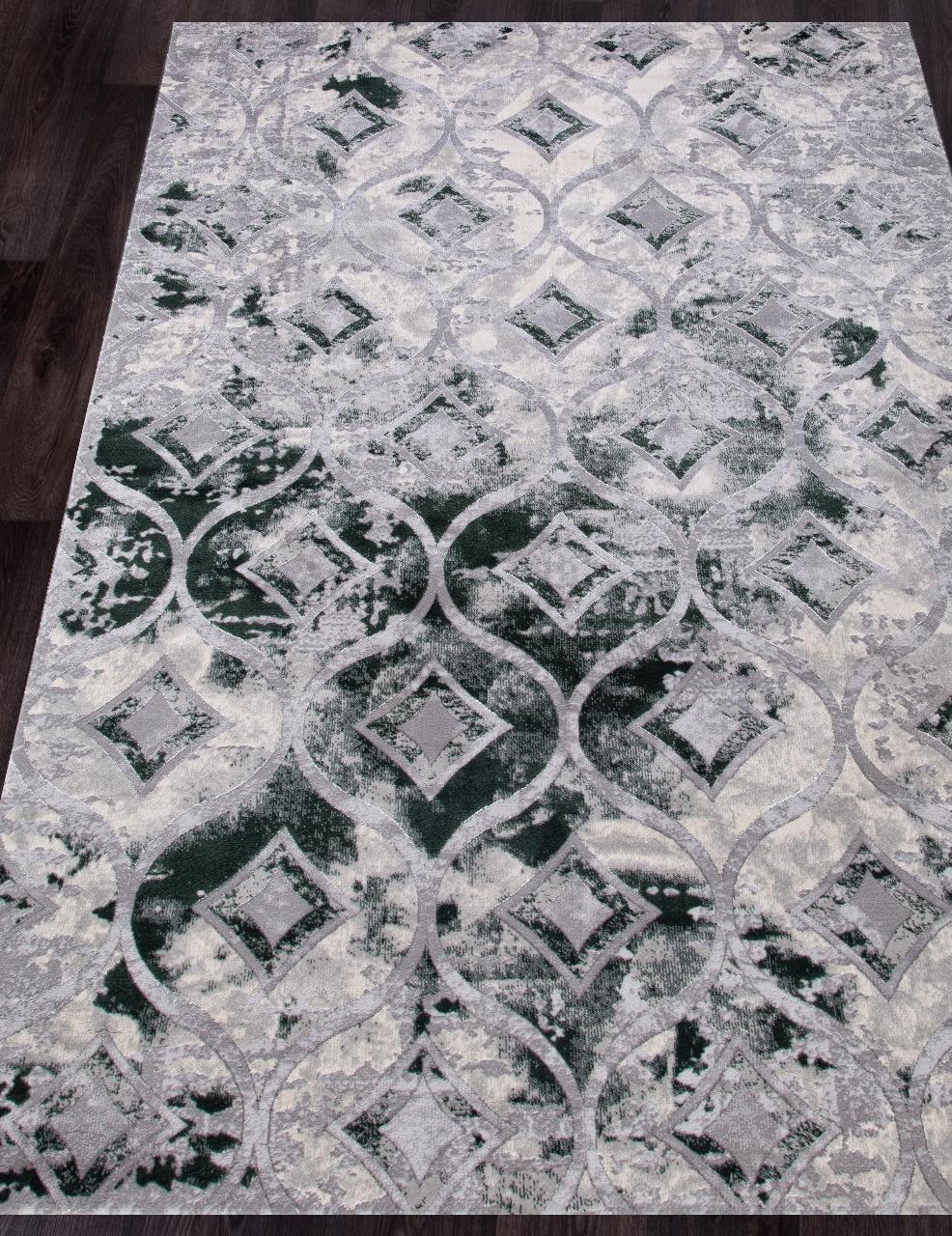 Ковер 5023A - COKEN D.GREY / GREEN - Прямоугольник - коллекция MARDAN