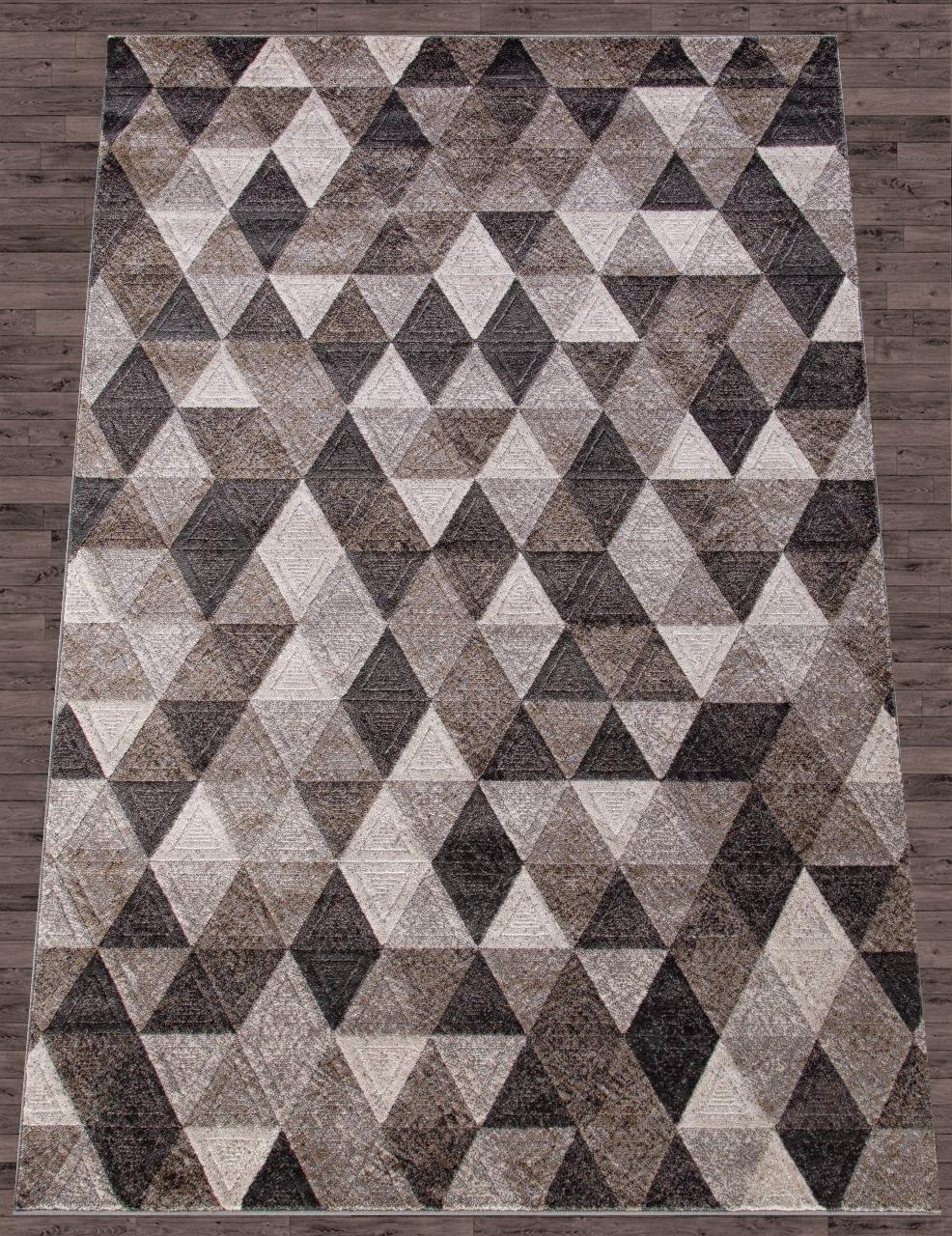 Ковер D578 - GRAY-BROWN - Прямоугольник - коллекция MATRIX