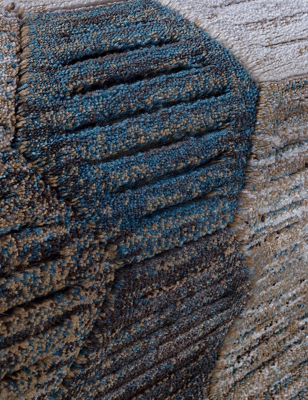 Ковер D579 - BEIGE-BLUE - Овал - коллекция MATRIX - фото 4