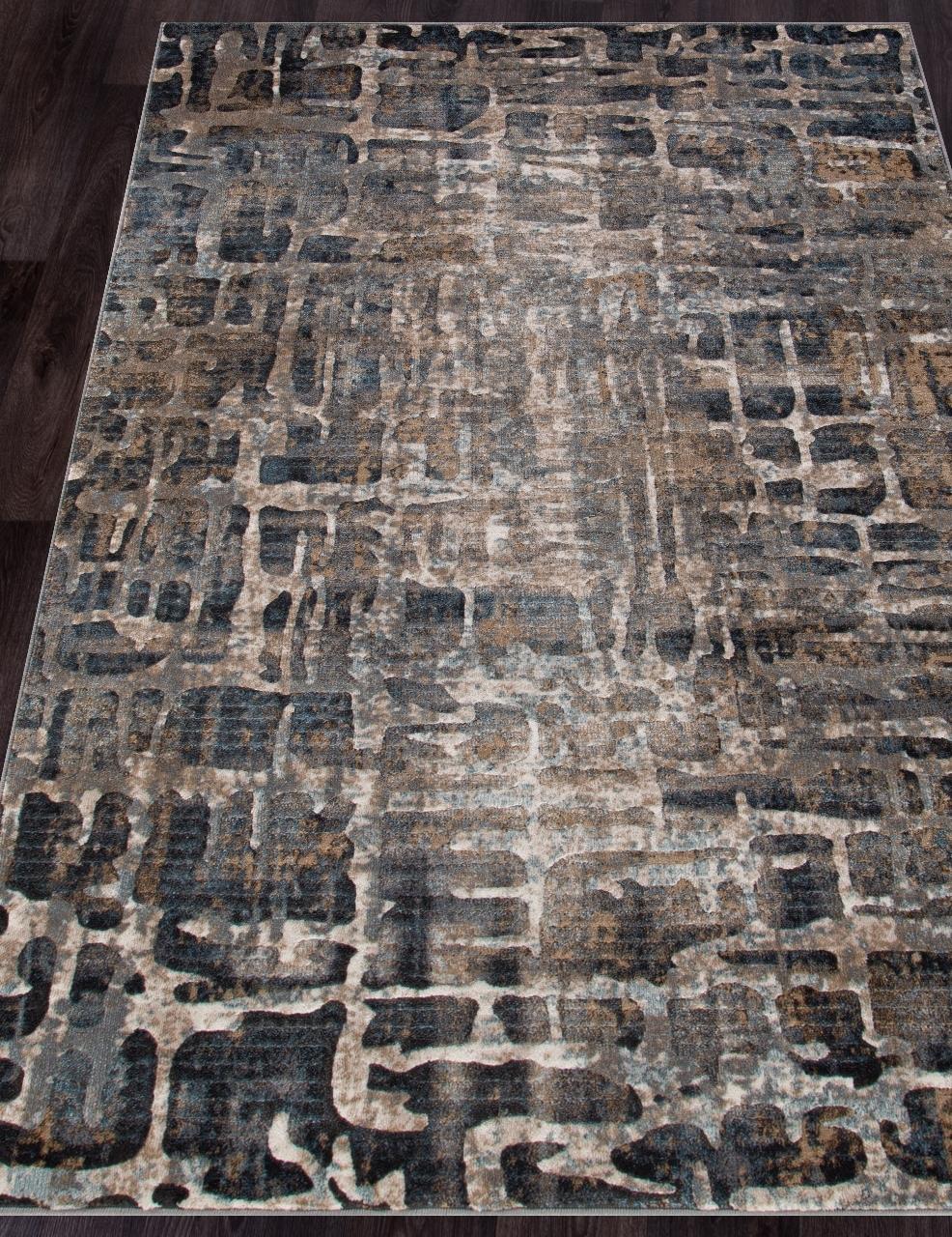 Ковер D587 - BEIGE-BLUE - Прямоугольник - коллекция MATRIX