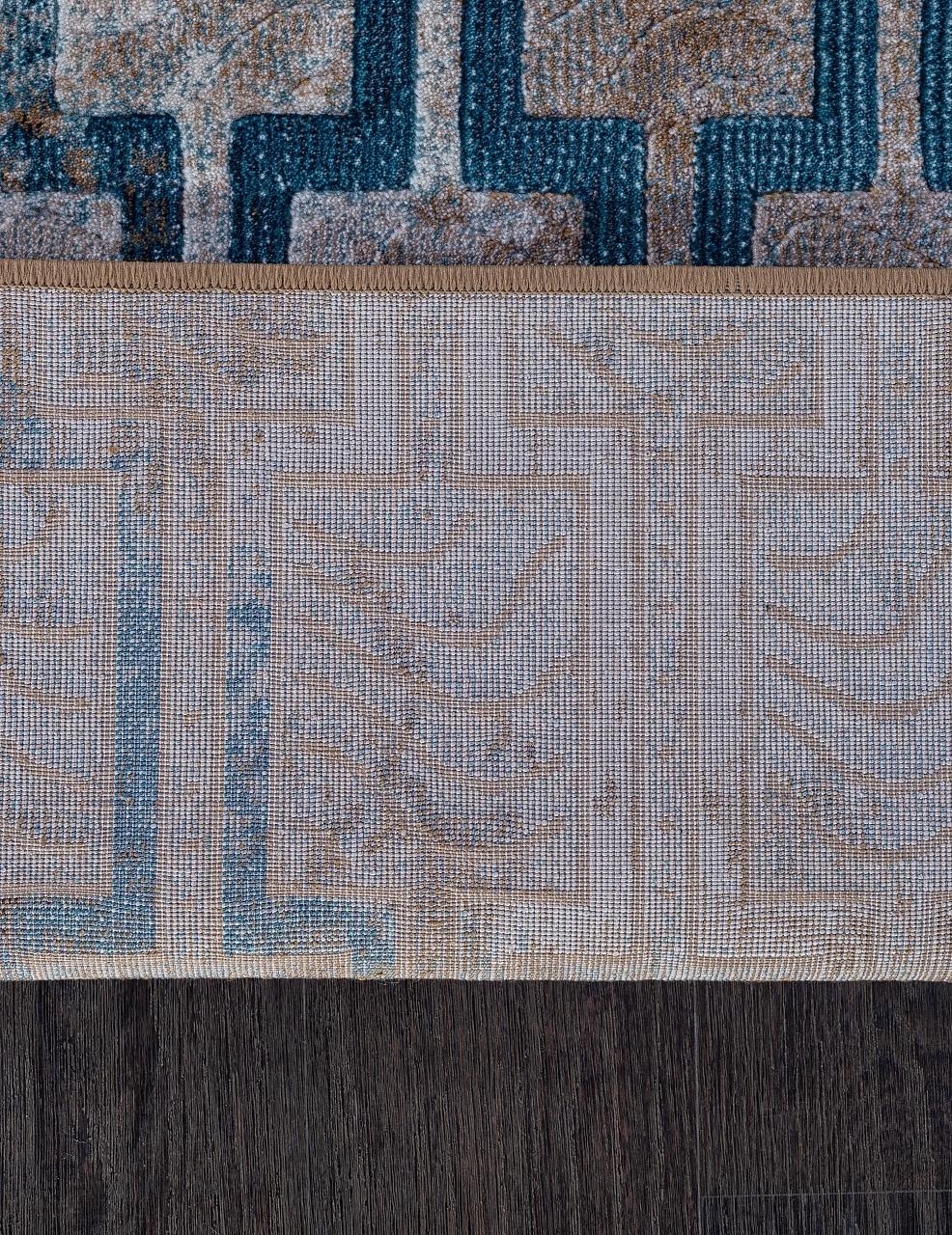 Ковер D591 - CREAM-BLUE - Прямоугольник - коллекция MATRIX - фото 5