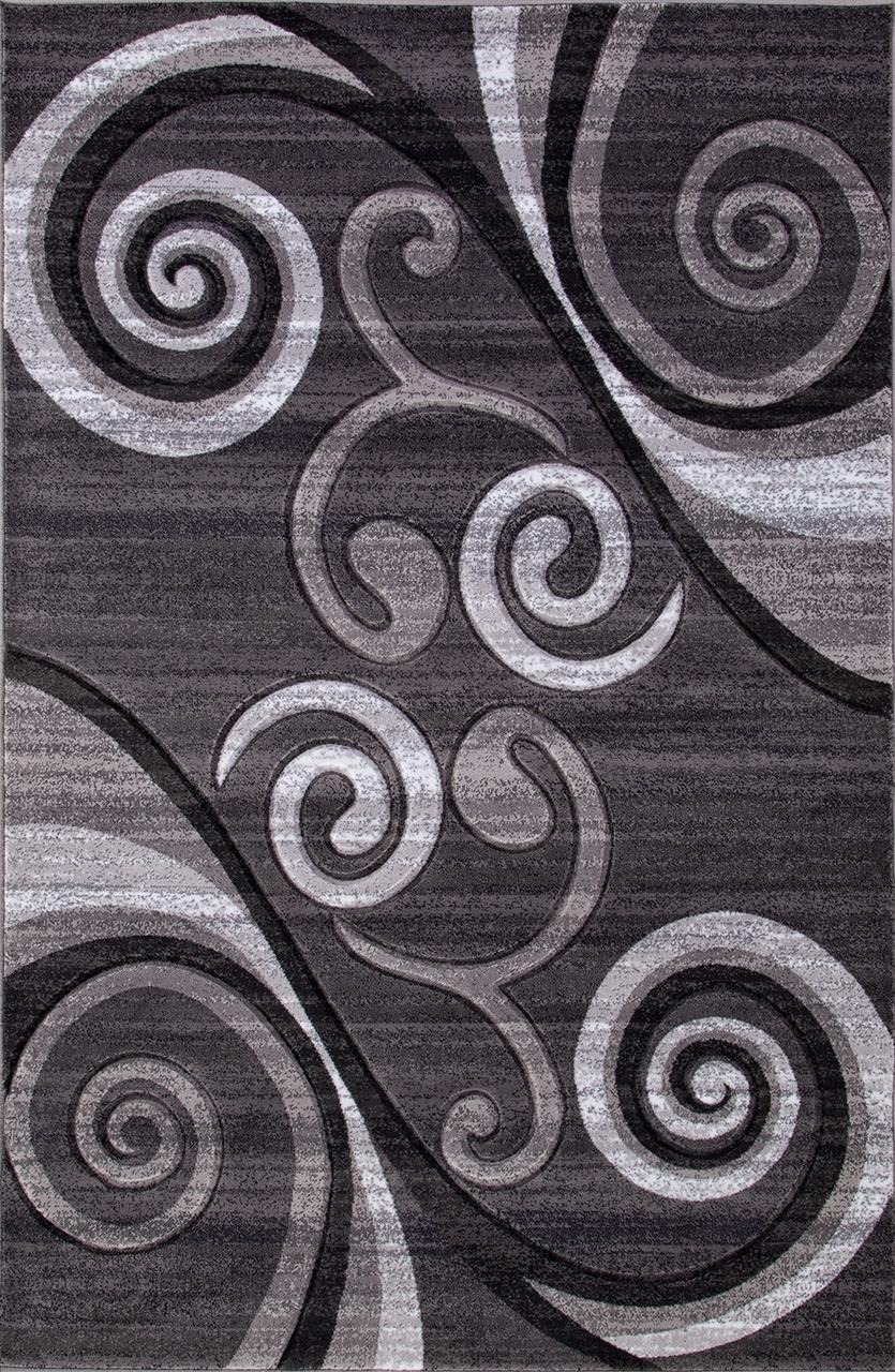 Ковер d263 - GRAY - Прямоугольник - коллекция MEGA CARVING - фото 2