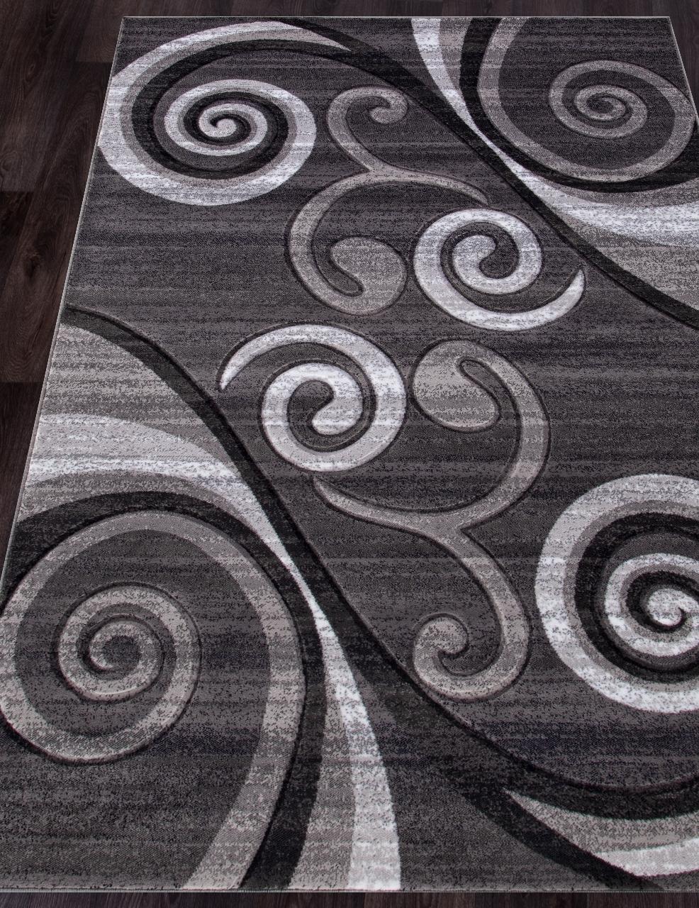 Ковер d263 - GRAY - Прямоугольник - коллекция MEGA CARVING - фото 1