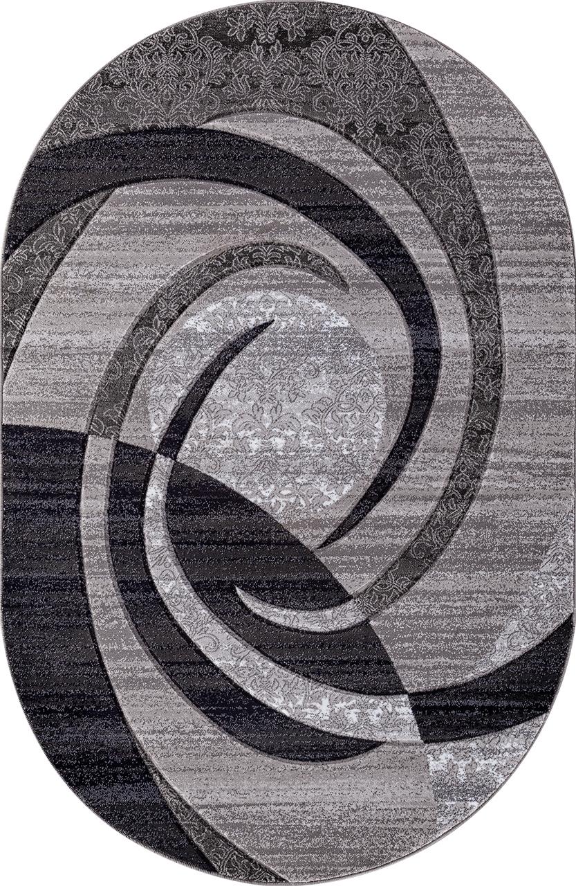 Ковер d264 - GRAY - Овал - коллекция MEGA CARVING - фото 2
