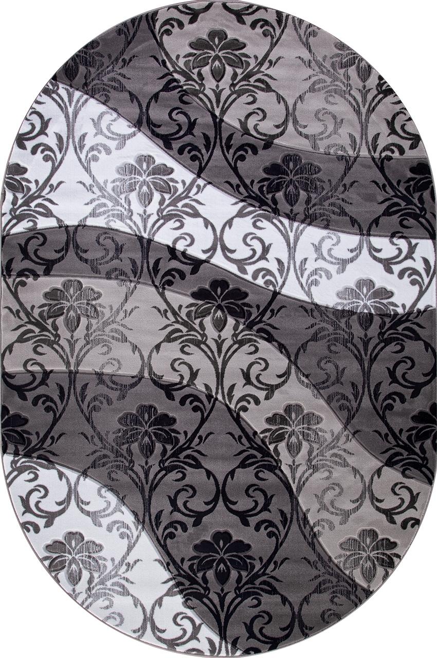Ковер d268 - GRAY - Овал - коллекция MEGA CARVING - фото 2