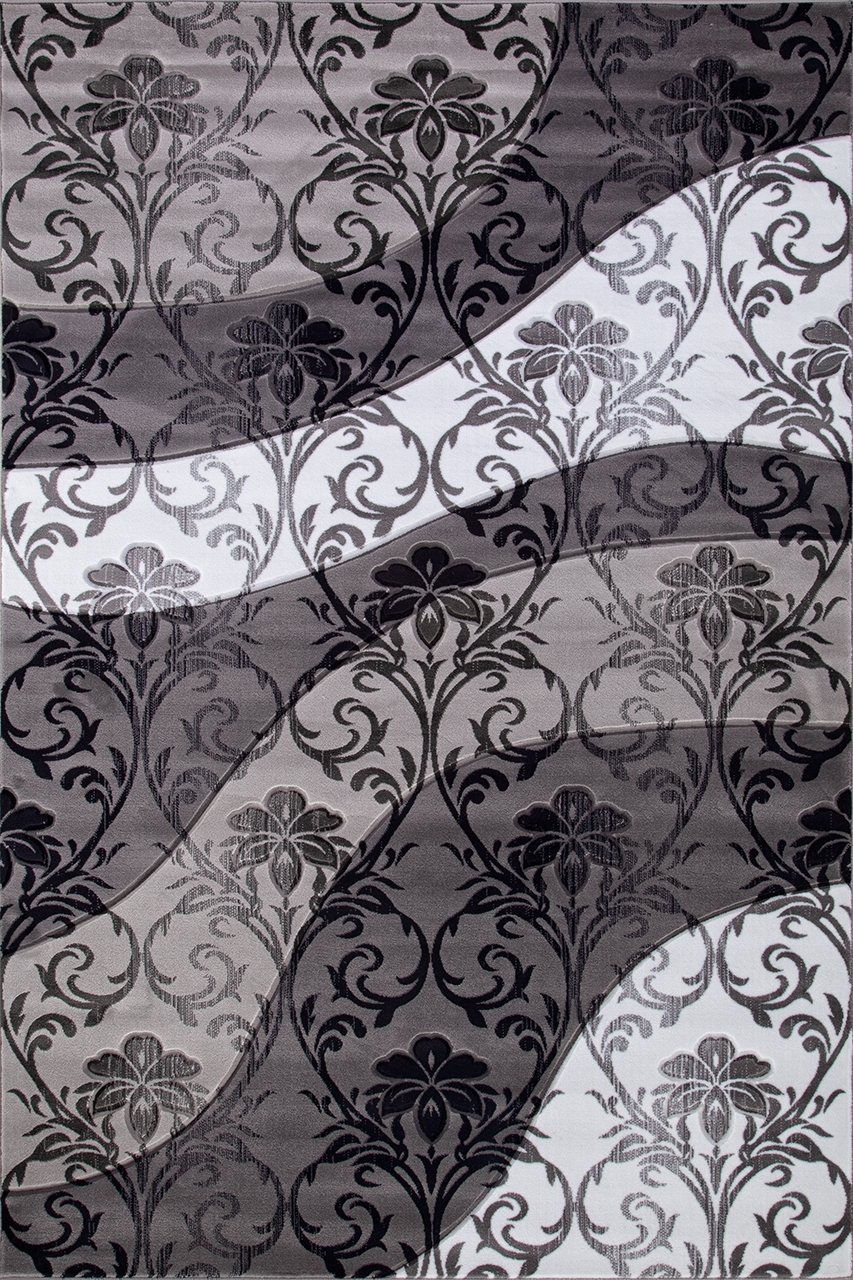 Ковер d268 - GRAY - Прямоугольник - коллекция MEGA CARVING - фото 2