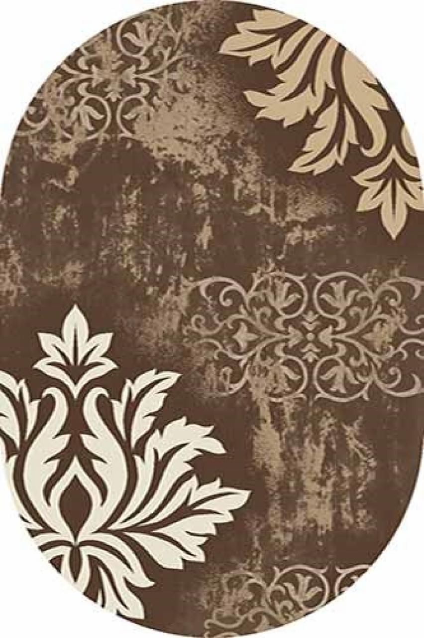 Ковер d272 - BROWN - Овал - коллекция MEGA CARVING