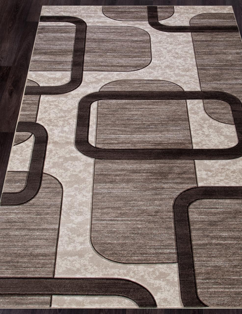 Ковер D465 - BEIGE - Прямоугольник - коллекция MEGA CARVING - фото 1