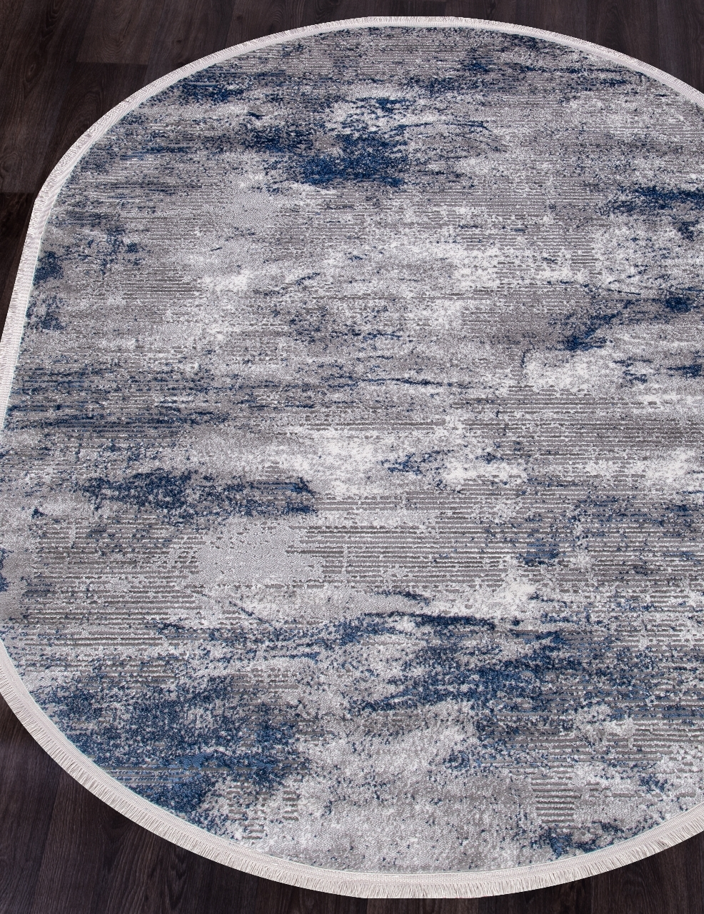 Ковер AS 838 - NAVY / GREY - Овал - коллекция MOROCCO