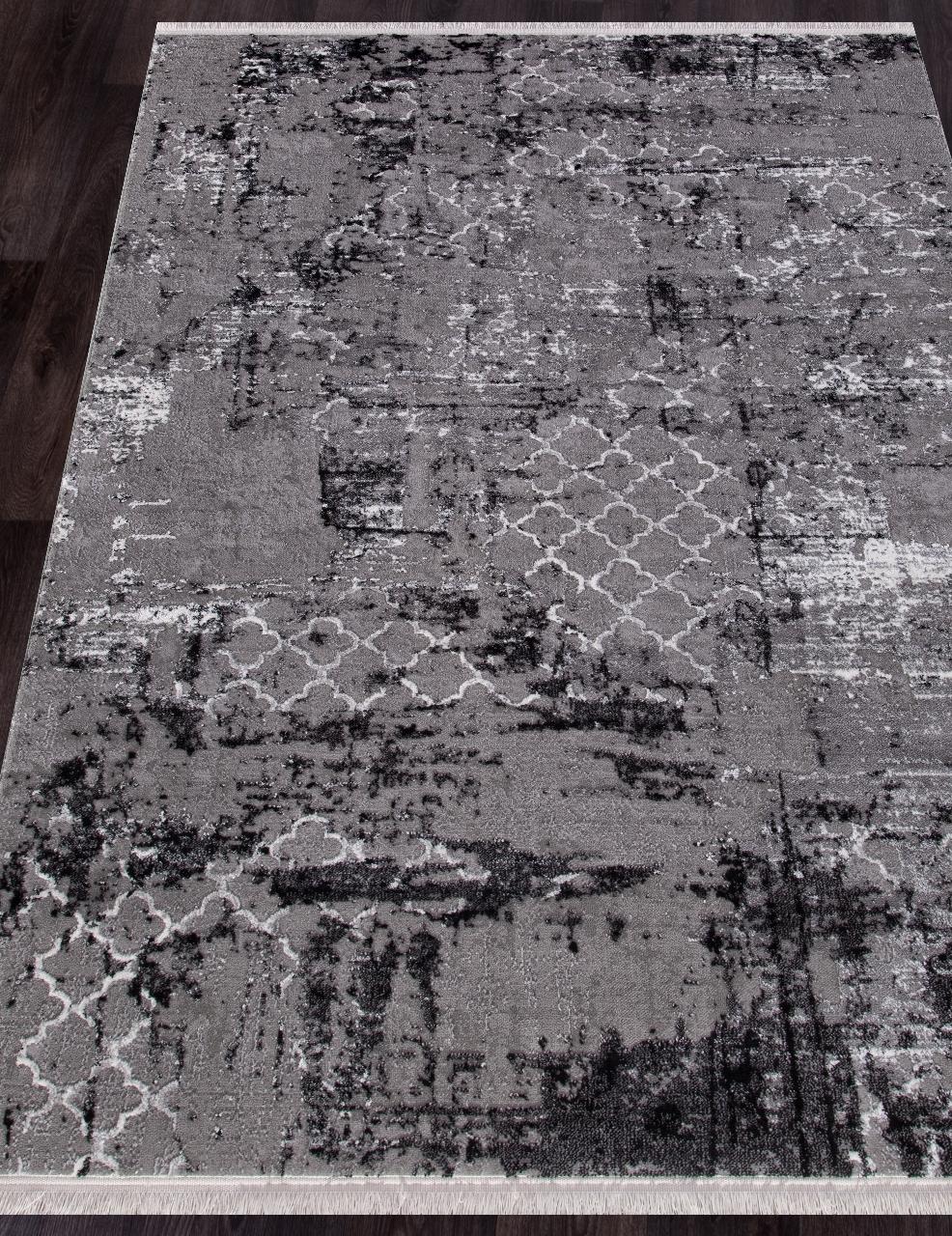 Ковер NP 250 - GREY / BLACK - Прямоугольник - коллекция MOROCCO